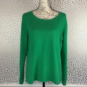 Peck & Peck 2 ply Green Cashmere Sweater